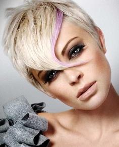 Прически для волос с челкой