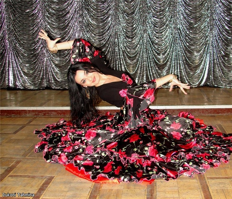 Цыганская юбка своими руками ткань