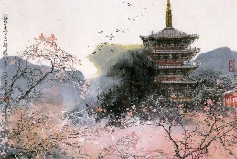 живопись в японском стиле: