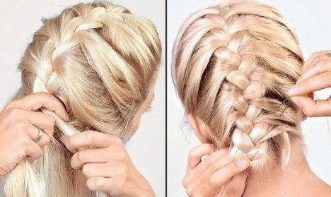 Волосы разделите на три пряди