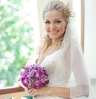 Свадебные прически на длинные волосы с фатой | LS