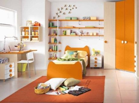 С чем сочетается апельсиновый цвет в интерьере