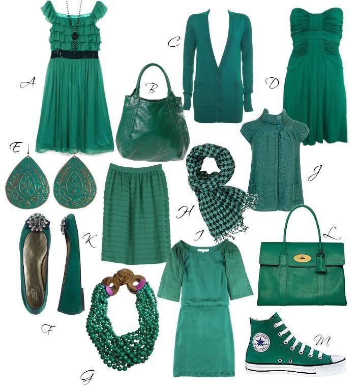 С каким цветом сочетается светло зелёный цвет