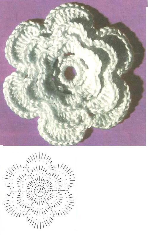 Вязание цветов крючком для