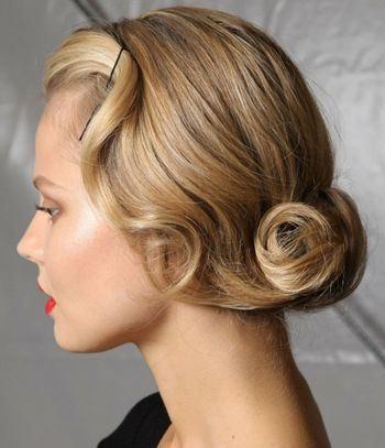 Элегантный пучок на волосы средней длины
