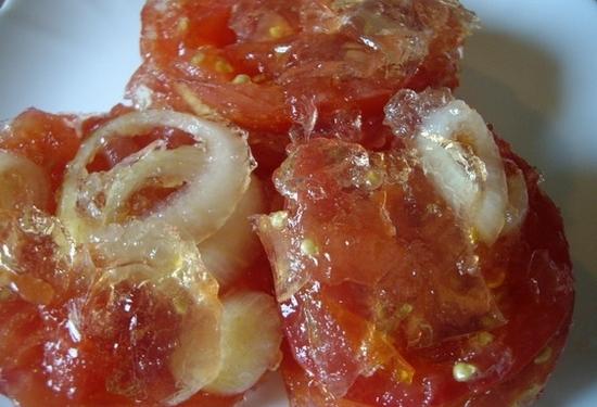 Помидоры с луком в желатине на зиму рецепты с фото пошагово