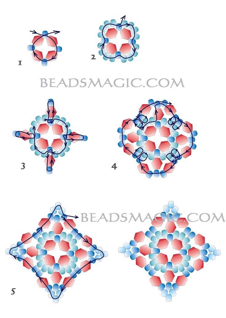 Серьги из бисера: схемы плетения