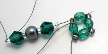 Обычные серьги из бисера: схема плетения