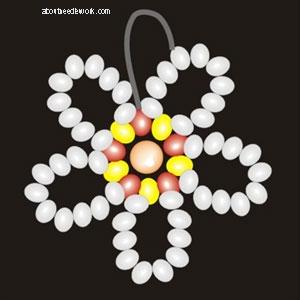 Серьги из бисера Цветы: схема плетения
