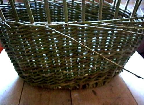 Плетение стенок корзин из лозы для начинающих