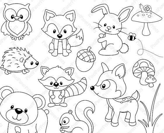 рисунки карандашом детские животные: