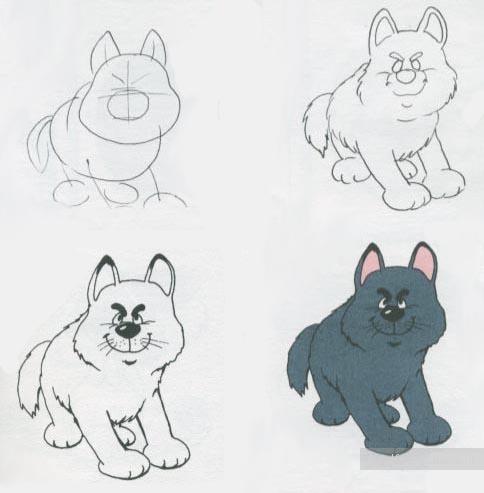 Рисунки карандашом животных