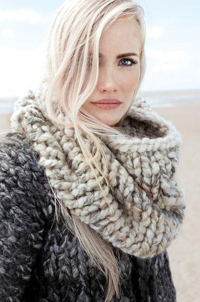Как связать шарф хомут? scarf