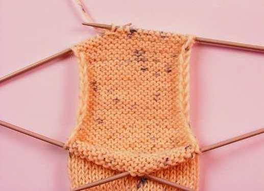 Вязание пятки носка спицами: классический вариант
