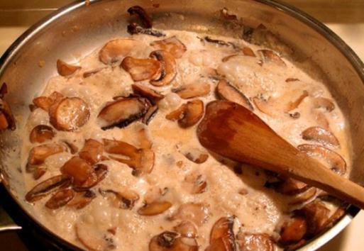 белые грибы рецепты приготовления жареные со сметаной
