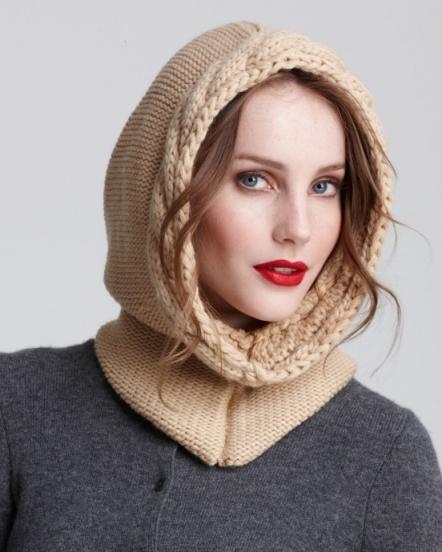 Вязание капора спицами для взрослых