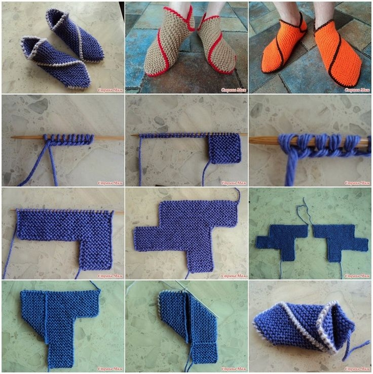 Вязание тапочек следков