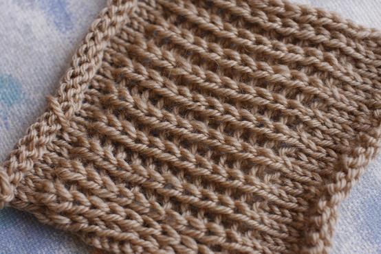 Вязание английской резинки спицами 1×1