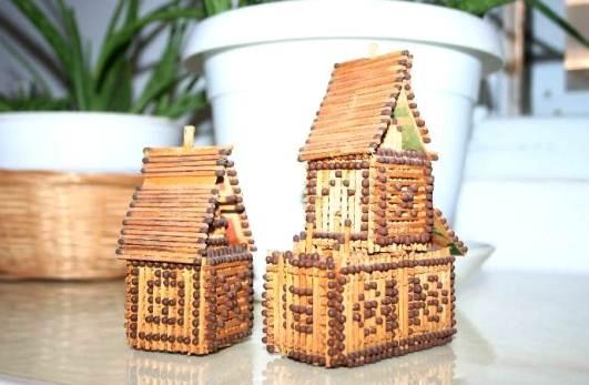 Поделки из спичек для начинающих – домик