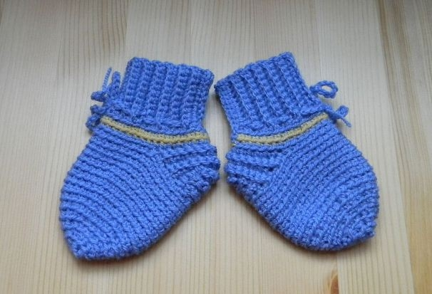 носочки для новорожденных спицами Ls