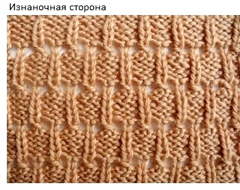 Узор Снопики для вязания шапок спицами