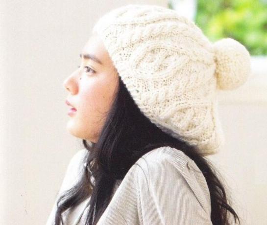 Узор Крупные косы для вязаных шапок