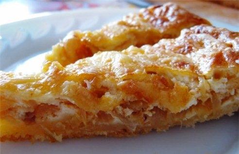 Простой луковый пирог от Юлии Высоцкой