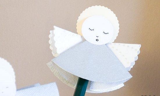 Ангелочки из бумаги спящие
