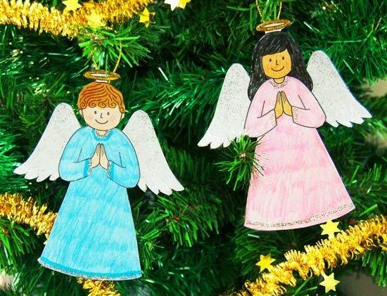Ангелочки из бумаги