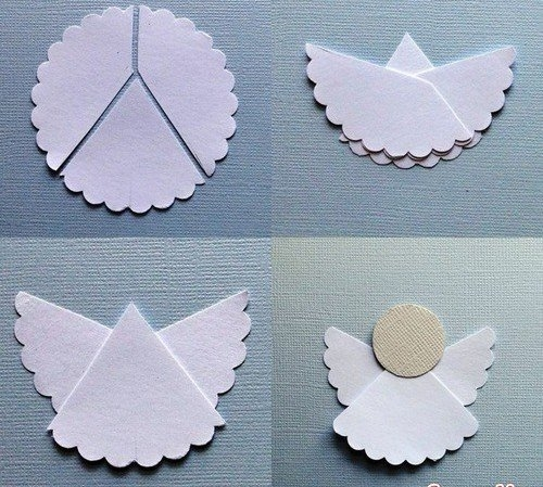 Ангелочки из бумаги своими руками в