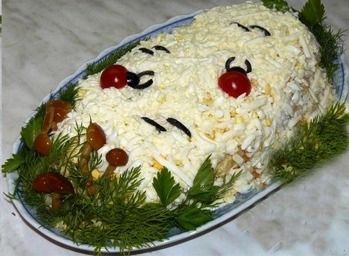 белая береза салат рецепт с фото как готовить