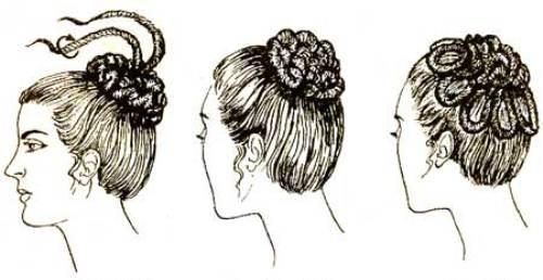 Красивый каракулевый пучок на длинные волосы