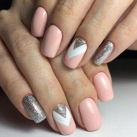 Дизайн на ногтях с блестками