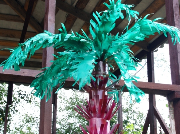 Пальмы из пластиковых бутылок своими руками