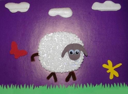Поделки из пенопласта своими руками: овечка