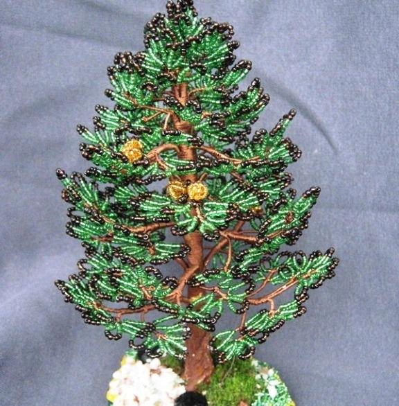 Сделать деревья из бисера своими руками