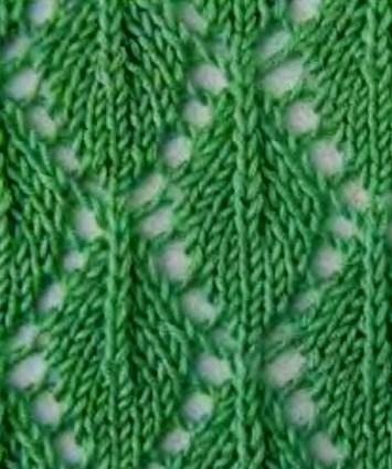 Вязание ажурных узоров спицами