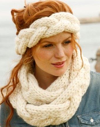 Вязание шарфа хомута с косами