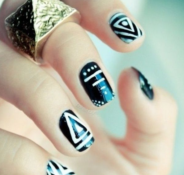 The pictures on the nails