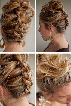 Плетение кос на средние волосы