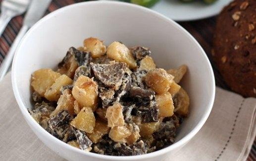 как готовить замороженные опята с картошкой