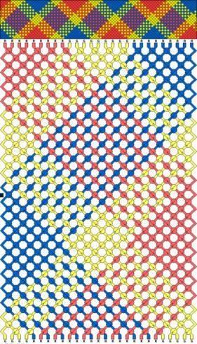 фенечек прямым плетением