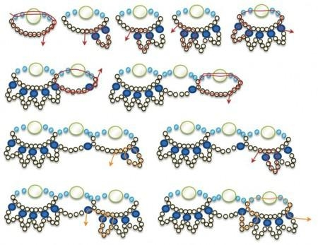 Колье из бисера для новичков: схема плетения