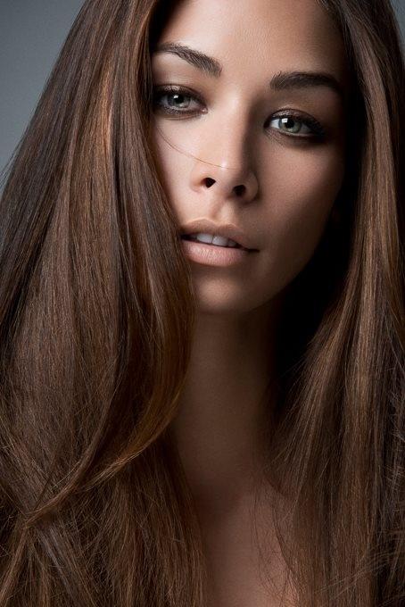 Шоколадный цвет волос покраска