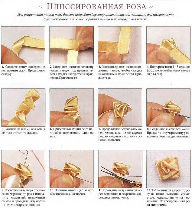 Вышивка лентами для