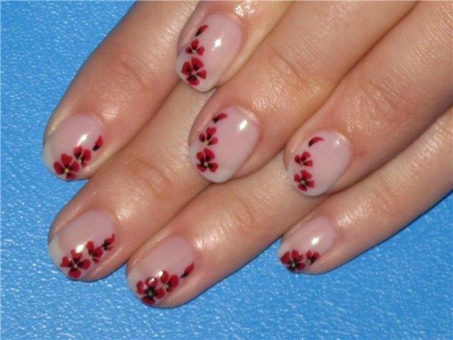 Рисунки на ногтях на коротких ногтях в домашних условиях