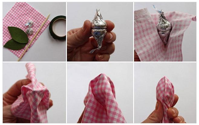 Тюльпаны своими руками из конфет