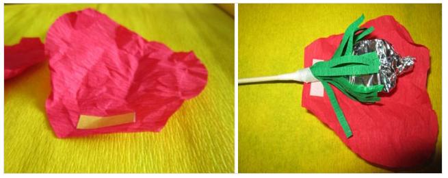 Маки своими руками из конфет