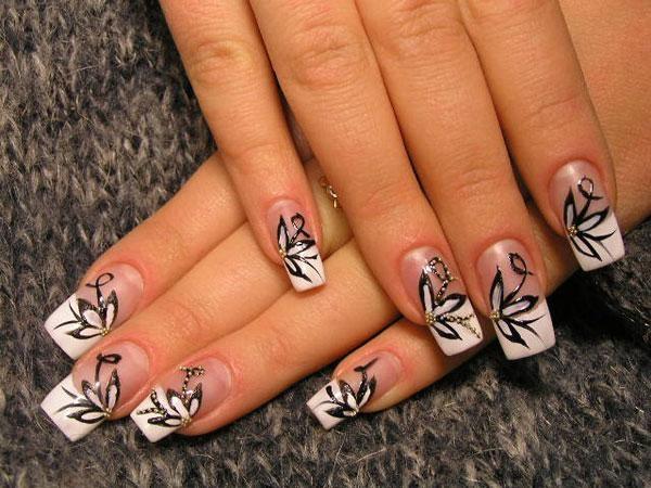 Рисунки на ногтях гелевой ручкой