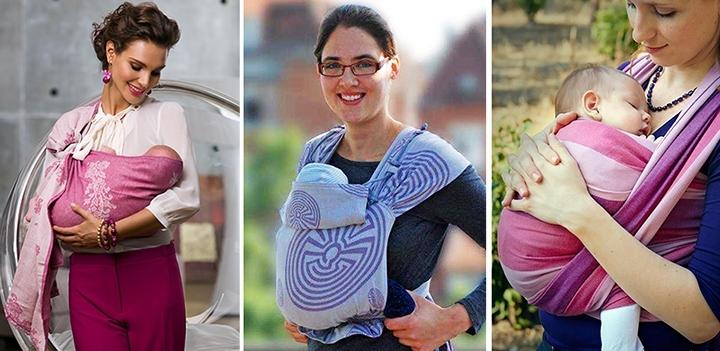 Слинг для новорожденных своими руками видео